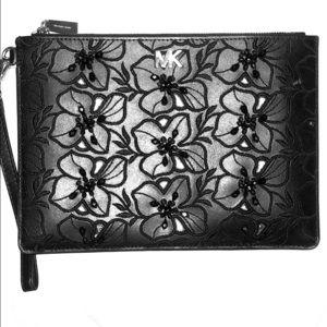 Michael Kors Wristlet - Black Leather